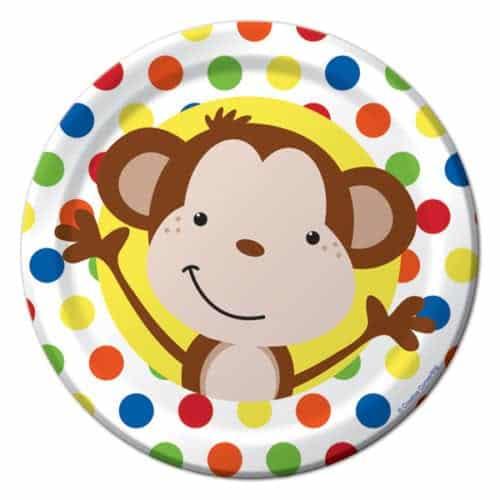 Fun Monkey Party Paper Plates