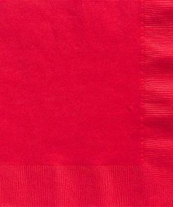 Red Dinner Paper Napkins - 40cm