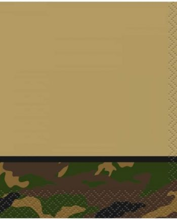 Military Camo Party Paper Beverage Napkins