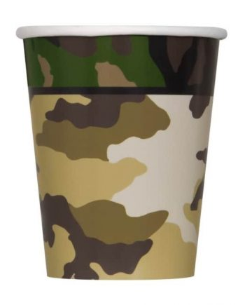 Military Camo Party Paper Cups