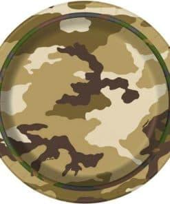 Military Camo Party Dessert Plates