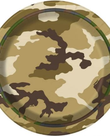 Military Camo Party Dessert Plates