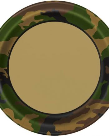 Military Camo Party Paper Plates