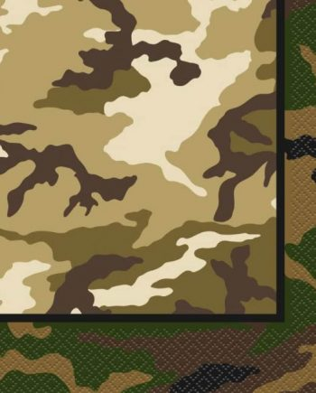 Military Camo Party Paper Lunch Napkins