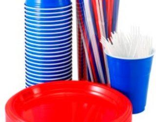Buy Plain Colour Party Plastic & Paper Plates, Cups & Tablecovers