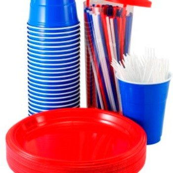 Buy Plain Colour Party Plastic & Paper Plates, Cups & Tablecovers