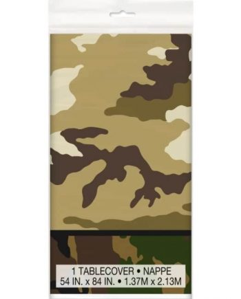 Military Camo Party Plastic Tablecover