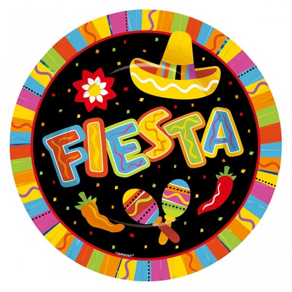 Mexican Fiesta Party Large Paper Plates
