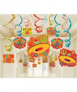 Mexican Fiesta Party Mega Value Swirl Decorations