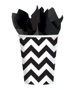 Black Chevron Party Paper Cups