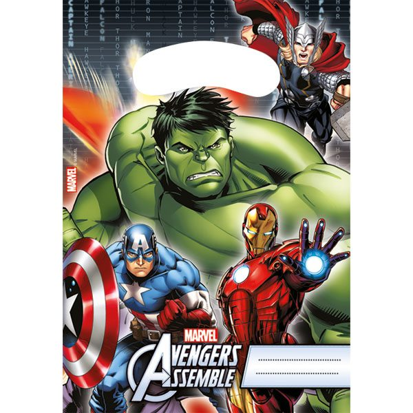 Avengers Party Plastic Party Loot Bags