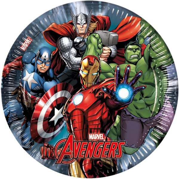 Avengers Party Paper Plates