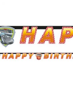 Disney Cars 3 Party Happy Birthday Letter Banner