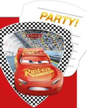 Disney Cars 3 Party Invites