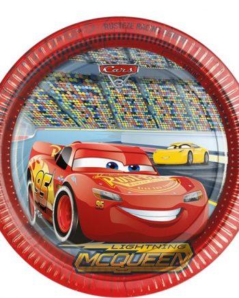 Disney Cars 3 Party Paper Plates
