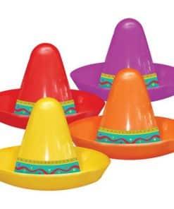 Mexican Fiesta Mini Plastic Sombrero Hat