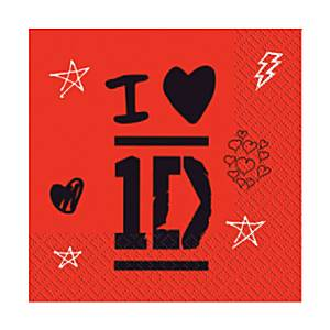 One Direction napkins