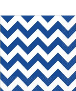 Royal Blue Chevron Party Paper Napkins