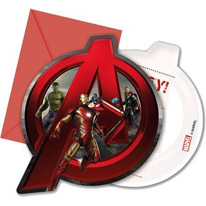 Avengers Age of Ultron Party Invites