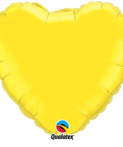 "Yellow 18"" Foil Heart Balloon"