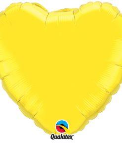 "Yellow 18"" Foil Heart Balloon"