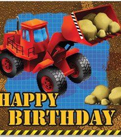 Under Construction Happy Birthday Napkins