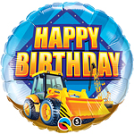 8'' Birthday Construction Zone Foil Balloon
