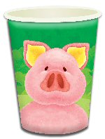 Pig Themed Paper Cups
