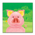 Pig Themed Party Napkins