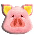 Pig Themed Shaped Party Hats