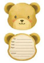 Teddy Bear party invites