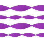 Purple Crepe Streamer EACH 24.6m x 4.5cm