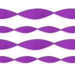 Purple Crepe Streamer EACH 24.6m x 4.5cm