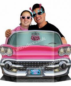 Pink convertible Car Photo Prop