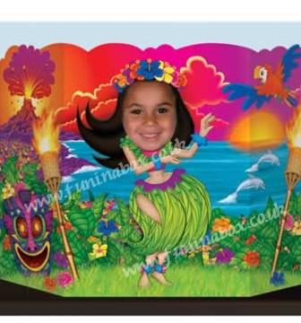Hula girl party prop