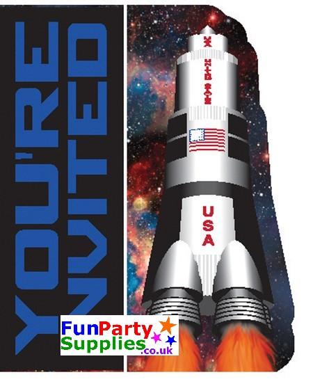 Space Blast Invites Pk 8