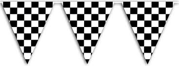 Black and White check Grand Prix bunting