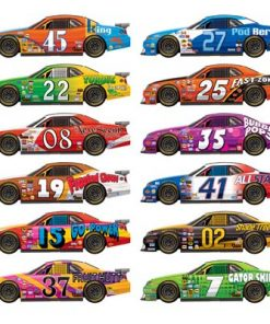 Racing car party decorations