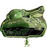 Green Army Tank Balloon