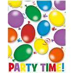 Balloons & Stars Party Invites - pack of 6