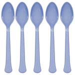 Pale Blue Plastic Spoons