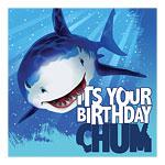 Shark themed party napkins