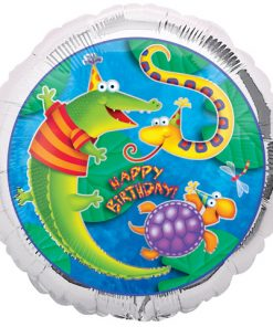 Bugs, Frogs & insects Happy Birthday foil balloon