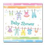baby clothes baby shower napkins
