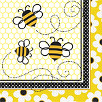 Bumble Bee Themed Party Napkins- pk 16