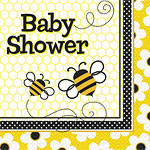 baby shower bee napkin