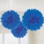 Dark Blue tissue pom poms