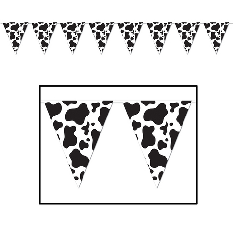 cow print bunting