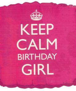 Keep Calm birthday girl balloon