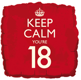 Keep calm 18th balloon